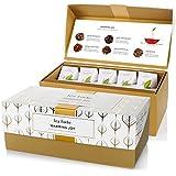 Tea Forte Warming Joy Presentation Box Featuring Seasonal & Festive Tea Blends - 20 Handcrafted Pyramid Tea Infusers