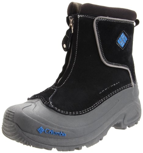 Columbia Sportswear BY1292 Bugaboot Plus Zip-Up Winter Boot (Little Kid/Big Kid),Black/Nautical Blue,1 M US Little Kid
