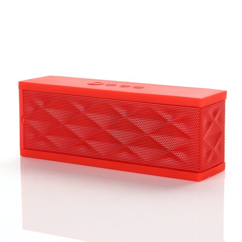Joma™ Bluetooth Boombox Speaker Wireless+ Hands-Free Speakerphone W/Microphone For Calls +Powerful Super Enhanced Bass Boost Effect+Rechargerable Battery Up To 6 Hours Playtime+Portable Fashion Design. Capability With All Bluetooth Devices(Red)