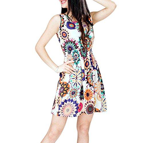 lookatool-1pc-women-summer-sunflower-beach-mini-dress-s