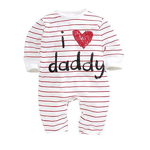 Unisex-Baby Newborn I Love Mummy I Love Daddy Bodysuit 2 Pack (3 months)