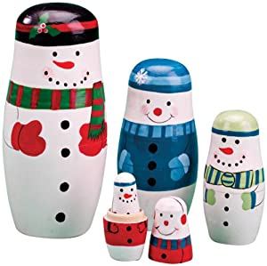 Snowman Nesting Dolls by Miles Kimball
