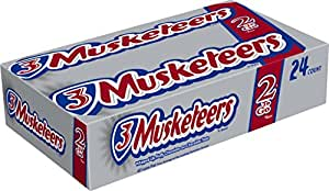 3 Musketeers Chocolate Candy Bar, Sharing Size (24 Count)