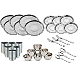 Kitchen Pro Stainless Steel Dinner Set Of 30 Pcs