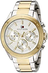 Tommy Hilfiger Mens 1791226 Hudson Analog Display Japanese Quartz Two Tone Watch