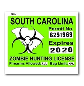 South Carolina Sc Zombie Hunting License