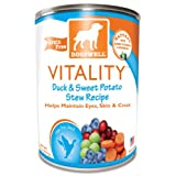 Dogswell Happy Hips for Dogs, Duck and Sweet Potato Stew Recipe, 13-Ounce Cans (Pack of 12)