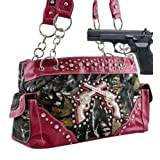 Hot Pink Camo Fashion Double Pistol Conceal and Carry Purse