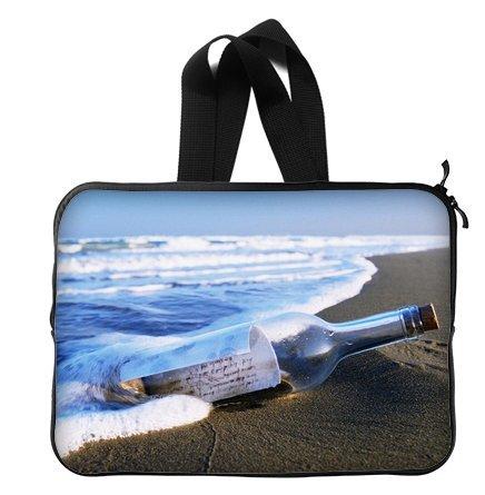 Message Drift Bottles On Sea Beach 14 Inch Laptop Sleeve Bag With Hidden Handle For Laptop / Notebook / Ultrabook / Macbook front-20191
