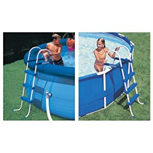 Intex 58976e accessoires piscines echelle de piscine 3 for Piscine intex amazon