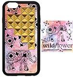 wildflower ( ワイルドフラワー ) ロサンゼルス の ファッションリーダー キュート エレファント ピラミッド iphone6ケース Elephant Gold Pyramid iPhone 6 Case ファブリック ゴールド スタッズ アイフォン ケース モバイル カバー apple6 ステッカー セット 海外 ブランド