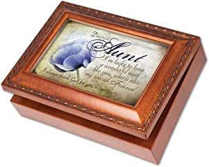 buy cottage garden musical jewelry box dearest aunt mb1850s online at low prices in india. Black Bedroom Furniture Sets. Home Design Ideas