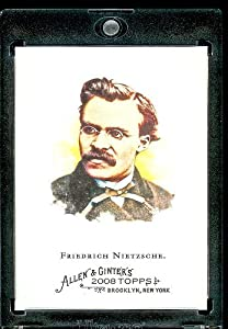 2008 Topps Allen and Ginter # 217 Friedrich Nietzsche ( Existentialism Philosopher ) MLB Baseball Card in Protective Display Case