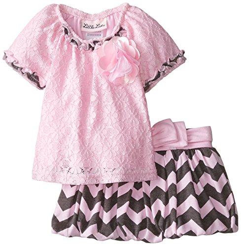Little Lass Baby-Girls Newborn 2 Piece Scooter Set Bubble, Pink, 3-6 Months