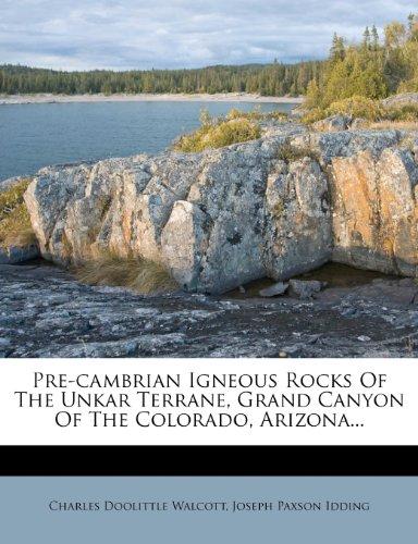 Pre-cambrian Igneous Rocks Of The Unkar Terrane, Grand Canyon Of The Colorado, Arizona...