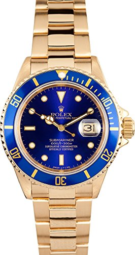 Rolex Submariner Gold 16618 Bob's Watches (Certified Pre-owned)