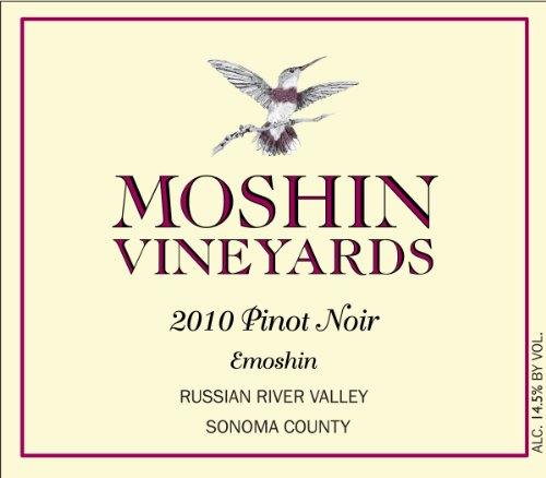 2010 Moshin Vineyards Emoshin Pinot Noir 750 Ml