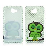 Huawei Ascend G600 G615 TPU SILICON CUTE OWL Design protection phone bumper Case bag Etui Bumper thematys®