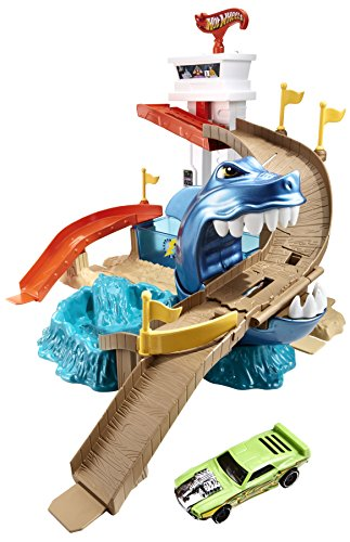 Mattel Hot Wheels BGK04 - City Color Shifters Hai-Attacke Spielset