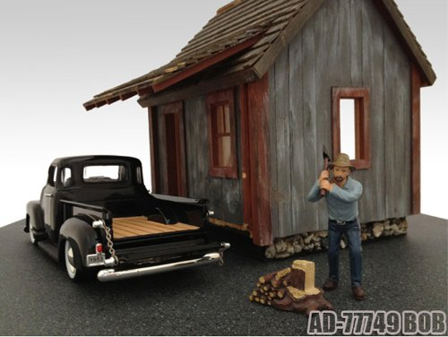 Logger Bob Figurine For 1:24 Diecast Model Cars by American Diorama 77749 - 1