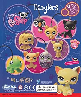 Littlest Pet Shop Danglers Set of 8 Vending Toys - Capsule Toys