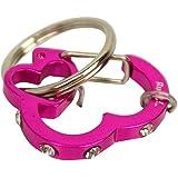Rubit The Easy Dog Tag Rhinestone Heart Switch Clip, Medium, 1.07-Inch Diameter, Pink