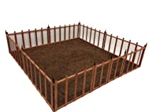 Big Sale Terra Garden Fence GF-4, Protect & Beautify, 32 Feet of Fencing Included, Wire Mesh Animal Barrier