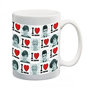 One Direction I Love One Direction Photo Tiles Tumbler Mug Ceramic by .