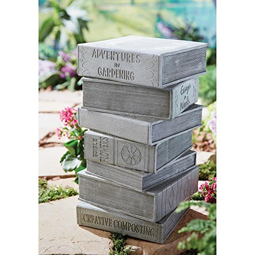 Stacked Books Outdoor Decorative Garden Decor - Ceramic Stool