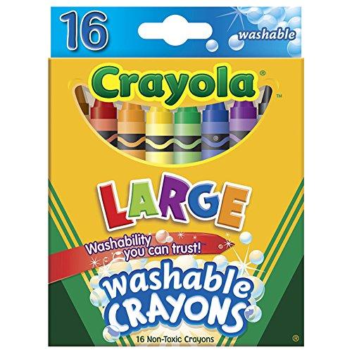 CRAYOLA LLC CRAYOLA WASHABLE CRAYONS 16CT LARGE (Set of 6) - 1
