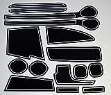 KINMEI(キンメイ) スズキ スペーシア Spacia 白 MK32S/42S型 車種専用設計 インテリア ドアポケットマット ドリンクホルダー 滑り止め ノンスリップ 収納スペース保護 ゴムマット 新車 SUZUKIsp-r
