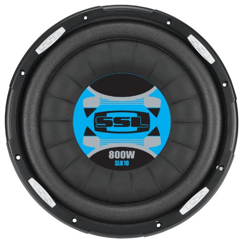 "Ssl Slk10 Slk Series 10"" Single 4 Ohm Voice Coil High Power Flat Subwoofer, 800 Watts"