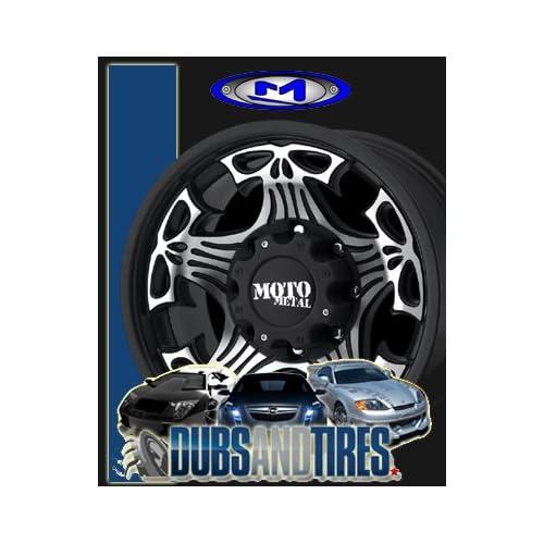 18 Inch 18x9 MOTO METAL wheels SKULL Gloss Black Machined Face wheels rims