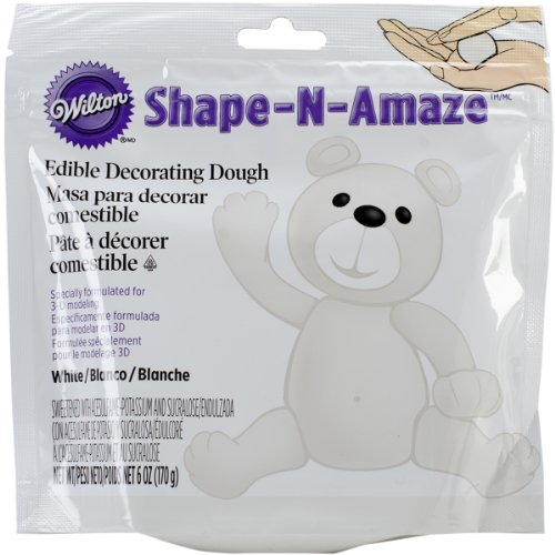 Wilton 707-159 Shape-N-Amaze Edible Decorating Dough, White (Edible Dough compare prices)