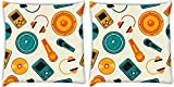 Snoogg Music Systems Pack Of 2 Digitally Printed Cushion Cover Pillows 14 X 14 Inch