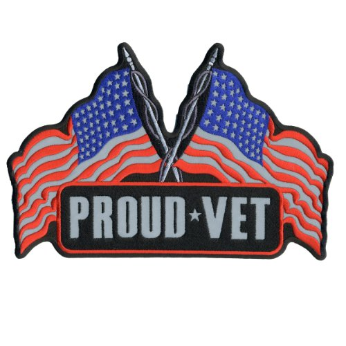 Hot Leathers Reflective Proud Vet Patch (5