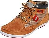 Kingswalker Mens Tan Leather Sneakers 8UK