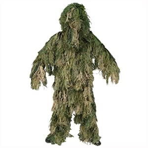 Ghillie Suit 3-d Camo 4 Pcs Hunting Paintball Shooting Airsoft Woodland from Mil-Tec