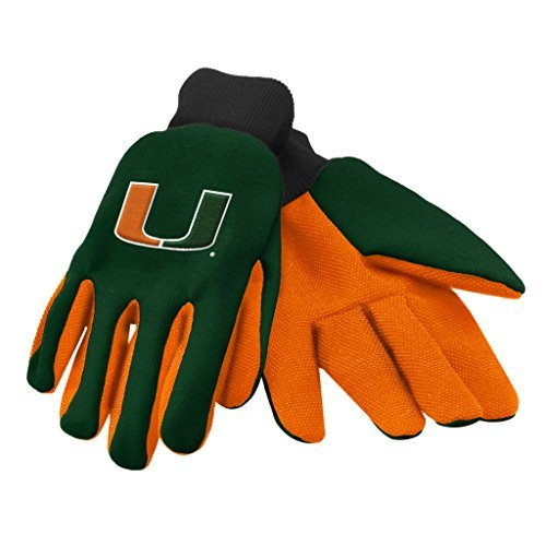 NCAA Miami Hurricanes 2015 Colored Palm Utility Glove, One Size, Green (Miami Hurricanes Football Pants compare prices)