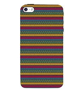 Green Indian Design 3D Hard Polycarbonate Designer Back Case Cover for Apple iPhone 5S