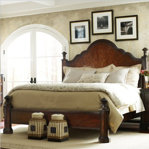Stanley Continental Mansion Bed 128-13-40 - Barrel - Queen front-998668