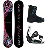 NEW Camp Seven Featherlite Ladies Snowboard Package with Flow Flite 2 Bindings and Siren... by Camp Seven