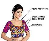Sareeshop Womens Raw Silk Saree Blouse (Next-60703_001_Multi-Coloured)