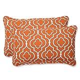 Pillow Perfect Outdoor Starlet Mandarin Rectangular Throw Pillow, Set of 2