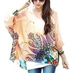 DJT Batwing T-shirt Blouse Manches 3/...