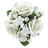 Garden Rose Topper Bouquet White by Chef Alan Tetreault