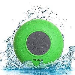 Essot Splash Proof Portable Bluetooth Shower Speaker with Suction & Inbuilt MIC(Green)
