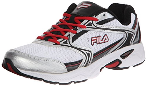 Fila Men's Xtent 2 Running Shoe, White/Black/Fila Red, 12 M US