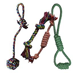 Puppy Chew Teething Rope Toy Small Set Mini Dental Pack (Toys Set #3)