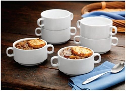 6-ps Bico Porcelain Soup Bowl Set